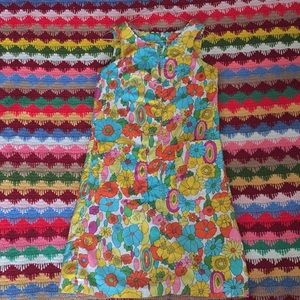 Dresses & Skirts - Vintage 60's Psychedelic Mini Shift Dress